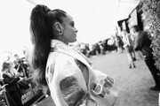 Image has been shot in black and white. No color version available) Kehlani attends the 2018 iHeartRadio Music Awards which broadcasted live on TBS, TNT, and truTV at The Forum on March 11, 2018 in Inglewood, California.
