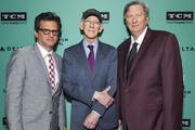 (L-R) TCM Primetime Host Ben Mankiewicz, honoree Kevin Brownlow, and Special Guest John Bailey attend The 2nd Annual Robert Osborne Award: Kevin Brownlow at the 2019 10th Annual TCM Classic Film Festival on April 13, 2019 in Hollywood, California.