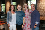 (L-R) Lorie Lytle, Singer-songwriter Hunter Hayes, ACM Lifting Lives Executive Director Lyndsay Cruz and ACM Executive Director RAC Clark pose during Music Camp Dinner Night at The Wildhorse Saloon on June 14, 2019 in Nashville, Tennessee.