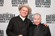 (L-R) John C. Reilly and John Prine seen backstage during the 2019 Americana Honors & Awards at Ryman Auditorium on September 11, 2019 in Nashville, Tennessee.
