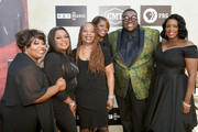 (L-R) Ann, Regina, Deborah and Alfreda McCrary of The McCrary Sisters, Michael Trotter Jr. and Tanya Blount of The War and Treaty attend the 2018 Americana Music Honors and Awards at Ryman Auditorium on September 12, 2018 in Nashville, Tennessee.