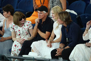 Anna Wintour, Baz Luhrmann, Nicole Kidman and Keith Urban attend the Women's Semi Final match between Naomi Osaka of Japan and Karolina Pliskova of Czech Republic during day 11 of the 2019 Australian Open at Melbourne Park on January 24, 2019 in Melbourne, Australia.