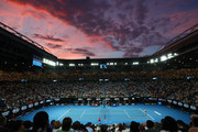 A general view during the Women's Singles Final between Naomi Osaka of Japan (L) and Petra Kvitova of the Czech Republic on day 13 of the 2019 Australian Open at Melbourne Park on January 26, 2019 in Melbourne, Australia.