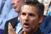 Eric Bana attends the Men's Singles Final match between Novak Djokovic of Serbia and Rafael Nadal of Spain during day 14 of the 2019 Australian Open at Melbourne Park on January 27, 2019 in Melbourne, Australia.