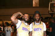 The Game and 2 Chainz play in the BETX Celebrity Basketball Game Sponsored By Sprite during the BET Experience at Los Angeles Convention Center on June 22, 2019 in Los Angeles, California.