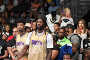 (L-R) Blueface, 2 Chainz and The Game play in the BETX Celebrity Basketball Game Sponsored By Sprite during the BET Experience at Los Angeles Convention Center on June 22, 2019 in Los Angeles, California.