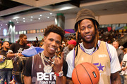 (L-R) A Boogie wit da Hoodie and 2 Chainz play in the BETX Celebrity Basketball Game Sponsored By Sprite during the BET Experience at Los Angeles Convention Center on June 22, 2019 in Los Angeles, California.