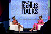 (L-R) Marsai Martin and Jemele Hill speak onstage at Generation Genius: From Blackish to Grownish at Genius Talks Sponsored By Credit Karma during the BET Experience at the Los Angeles Convention Center on June 22, 2019 in Los Angeles, California.