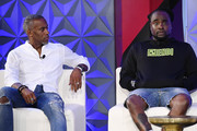 (L-R) Jeff Johnson and Wale speak onstage during the 2019 BET Experience Genius Talks Sponsored By Dennys at Los Angeles Convention Center on June 21, 2019 in Los Angeles, California.