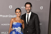 Jordana Brewster and Andrew Form attend the 2019 Baby2Baby Gala presented by Paul Mitchell at 3LABS on November 09, 2019 in Culver City, California.
