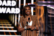 Jennifer Hudson speaks onstage during the 2019 Billboard Music Awards at MGM Grand Garden Arena on May 1, 2019 in Las Vegas, Nevada.