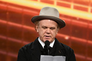 John C. Reilly speaks onstage during the 2019 British Academy Britannia Awards presented by American Airlines and Jaguar Land Rover at The Beverly Hilton Hotel on October 25, 2019 in Beverly Hills, California.