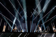 (EDITORIAL USE ONLY) Kimberly Schlapman, Jimi Westbrook, Philip Sweet and Karen Fairchild of Little Big Town perform on stage during day 2 for the 2019 CMA Music Festival on June 07, 2019 in Nashville, Tennessee.