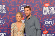 Carrie Underwood and Mike Fisher attend the 2019 CMT Music Awards at Bridgestone Arena on June 05, 2019 in Nashville, Tennessee.