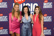 Leah Turner, Leslie Fram, and Tenille Townes attend the 2019 CMT Music Awards at Bridgestone Arena on June 05, 2019 in Nashville, Tennessee.