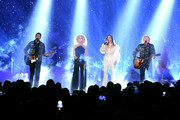 (L-R) Jimi Westbrook, Kimberly Schlapman, Karen Fairchild and Philip Sweet of Little Big Town perform at the 2019 CMT Music Awards at Bridgestone Arena on June 05, 2019 in Nashville, Tennessee.