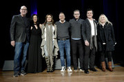 Leslie Fram, Martina McBride, Jon Loba, Randy Goodman, Scott Borchetta and Cindy Mabe speak onstage at  the 2019 CMT Next Women Of Country Celebration at CMA Theater at the Country Music Hall of Fame and Museum on November 12, 2019 in Nashville, Tennessee.
