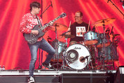 Rivers Cuomo, Patrick Wilson of Weezer perform at Coachella Stage during the 2019 Coachella Valley Music And Arts Festival on April 13, 2019 in Indio, California.
