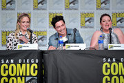 Caity Lotz, Ben Feldman and Lauren Ash speak at the TV Guide Magazine Fan Favorites 2019 during 2019 Comic-Con International at San Diego Convention Center on July 19, 2019 in San Diego, California.