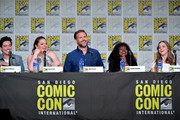 Ben Feldman, Lauren Ash, Matt Davis, Yetide Badaki, and Brittany Curran speak at the TV Guide Magazine Fan Favorites 2019 during 2019 Comic-Con International at San Diego Convention Center on July 19, 2019 in San Diego, California.