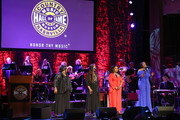 (L-R) Ann McCrary, Deborah McCrary, Regina McCrary and Alfreda McCrary of The McCrary Sisters performs onstage during the 2019 Country Music Hall of Fame Medallion Ceremony at Country Music Hall of Fame and Museum on October 20, 2019 in Nashville, Tennessee.