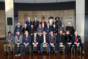 (Front row, L-R) Charley Pride, Randy Travis, Bud Wendell, Jerry Bradley, Ray Stevens, Kix Brooks, Ronnie Dunn, Reba McEntire, and Ralph Emery. (Second row, L-R) Charlie Daniels, Connie Smith, Charlie McCoy, Bill Anderson, Jimmy Fortune, Bobby Braddock, Randy Owen, and Ricky Skaggs. (Third row, L-R) Don Schlitz, The Oak Ridge Boys, Duane Allen, William Lee Golden and Richard Sterban and Garth Brooks attend the 2019 Country Music Hall of Fame Medallion Ceremony at Country Music Hall of Fame and Museum on October 20, 2019 in Nashville, Tennessee.