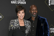 (L-R) Kris Jenner and Corey Gamble attend the 2019 E! People's Choice Awards at Barker Hangar on November 10, 2019 in Santa Monica, California.