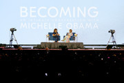 Michelle Obama and Gayle King speak onstage during the 2019 ESSENCE Festival Presented By Coca-Cola at Louisiana Superdome on July 06, 2019 in New Orleans, Louisiana.