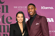 RJ Barrett and Adriana Lima attend 2019 FN Achievement Awards at IAC Building on December 03, 2019 in New York City.