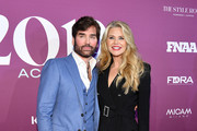 Michael Atmore and Christie Brinkley attends 2019 FN Achievement Awards at IAC Building on December 03, 2019 in New York City.