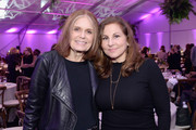 Retransmission with alternate crop.) Gloria Steinem (L) and Kathy Najimy attend The 2019 MAKERS Conference at Monarch Beach Resort on February 6, 2019 in Dana Point, California.