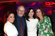 """(L-R) National Geographic Global Television Networks President Courteney Monroe, Liam Cunningham, Julianna Margulies, and National Geographic Global Scripted Content & Documentary Films EVP Carolyn Bernstein attend the L.A. premiere of National Geographic's 3-Night Limited Series """"The Hot Zone"""", which premieres Monday, May 27, 9/8c, at Samuel Goldwyn Theater on May 09, 2019 in Beverly Hills, California."""