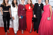 (L-R) Tobin Heath, Christen Press, Megan Rapinoe, Samantha Barry, Ali Krieger and Ashlyn Harris attend the 2019 Glamour Women Of The Year Awards at Alice Tully Hall on November 11, 2019 in New York City.