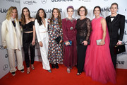 Tobin Heath, Christen Press, Megan Rapinoe, Ali Krieger and Ashlyn Harris attend the 2019 Glamour Women Of The Year Awards at Alice Tully Hall on November 11, 2019 in New York City.