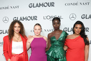 (L-R) Solange van Doorn, Iskra Lawrence, Seynabou Cissie, and Yvonne Simone attend the 2019 Glamour Women Of The Year Awards at Alice Tully Hall on November 11, 2019 in New York City.