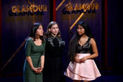 Xiye Bastida, Alexandria Villasenor and Jade Lozada speak onstage during the 2019 Glamour Women Of The Year Awards at Alice Tully Hall on November 11, 2019 in New York City.