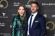 Katherine Ryan and Bobby Kootstra attends the 2019 Global Citizen Prize at the Royal Albert Hall on December 13, 2019 in London, England.