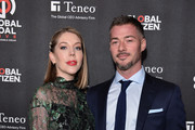 Katherine Ryan and Bobby Kootstra attend the 2019 Global Citizen Prize at the Royal Albert Hall on December 13, 2019 in London, England.