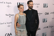 Actress Natalie Portman and Benjamin Millepied attend the 2019 LA Dance Project Gala, Cocktail Hour Hosted by Dom Pérignon at Hauser & Wirth on October 19, 2019 in Los Angeles, California.
