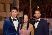 (L-R) Jwan Yosef, LACMA Trustee Eva Chow, and Ricky Martin, all wearing Gucci attend the 2019 LACMA Art + Film Gala Presented By Gucci at LACMA on November 02, 2019 in Los Angeles, California.