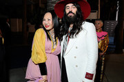 (L-R) LACMA Trustee Eva Chow and Alessandro Michele, wearing Gucci, attend the 2019 LACMA Art + Film Gala Presented By Gucci at LACMA on November 02, 2019 in Los Angeles, California.