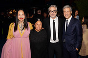 (L-R) Eva Chow, Betye Saar, Alfonso Cuarón and Michael Govan, all wearing Gucci, attend the 2019 LACMA Art + Film Gala Presented By Gucci at LACMA on November 02, 2019 in Los Angeles, California.