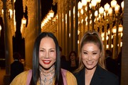 Eva Chow, wearing Gucci, and Irene Roth attend the 2019 LACMA Art + Film Gala Presented By Gucci at LACMA on November 02, 2019 in Los Angeles, California.