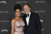 (L-R) Salma Hayek Pinault and François-Henri Pinault attend the 2019 LACMA 2019 Art + Film Gala Presented By Gucci on November 02, 2019 in Los Angeles, California.