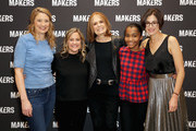 (L-R) Heidi Schreck, Founder & Executive Producer, MAKERS Dyllan McGee, Gloria Steinem, Rosdely Ciprian and General Manager, Yahoo Entertainment, Lifestyle & MAKERS Lori Bongiorno attend The 2019 MAKERS Conference at Monarch Beach Resort on February 6, 2019 in Dana Point, California.