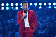 Zachary Levi onstage during the 2019 MTV Movie and TV Awards at Barker Hangar on June 15, 2019 in Santa Monica, California.