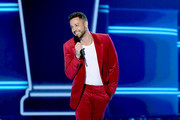 Zachary Levi speaks onstage during the 2019 MTV Movie and TV Awards at Barker Hangar on June 15, 2019 in Santa Monica, California.