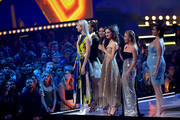 The cast of 'Euphoria' speak onstage during the 2019 MTV Movie and TV Awards at Barker Hangar on June 15, 2019 in Santa Monica, California.