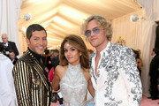 Evangelo Bousis, Natasha Poonawalla and Peter Dundas attend The 2019 Met Gala Celebrating Camp: Notes on Fashion at Metropolitan Museum of Art on May 06, 2019 in New York City.