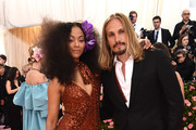Zoe Saldana and Marco Perego attends The 2019 Met Gala Celebrating Camp: Notes on Fashion at Metropolitan Museum of Art on May 06, 2019 in New York City.